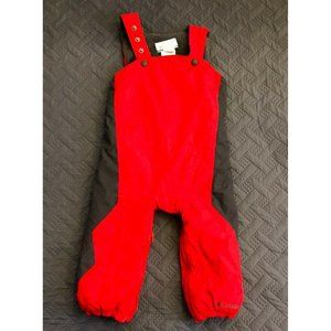 Columbia Red Snow Bibs Overalls Snowsuit Youth 2 T